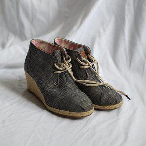 Like NEW Toms heels booties